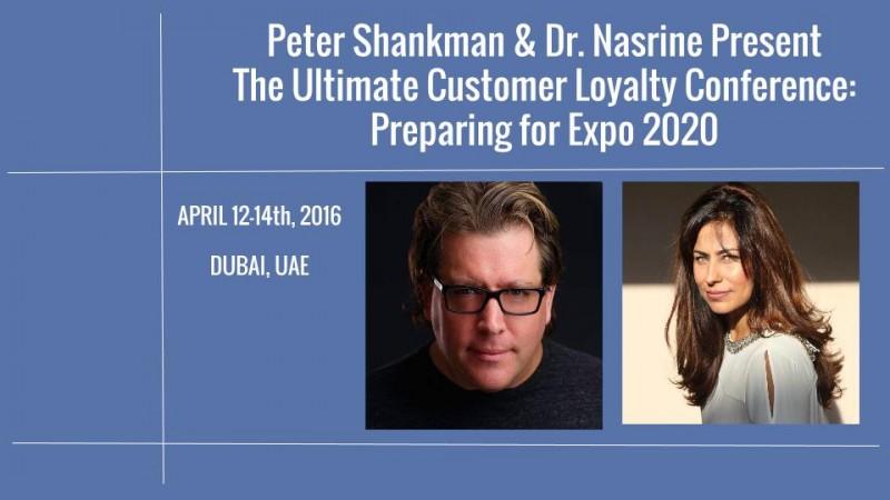 Dr. Nasrine Peter Shankman Dubai Customer Loyalty Conference
