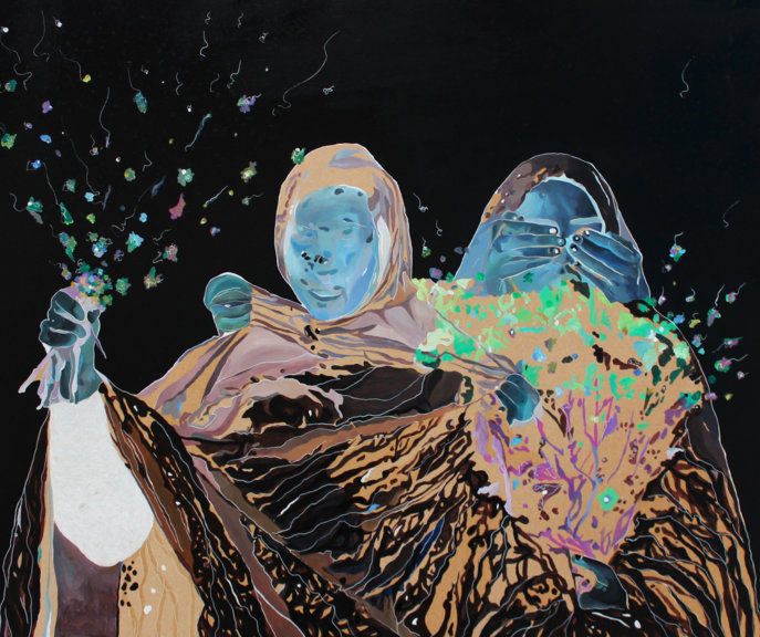 Amani Althuwaini Abolish 153 Dr. Nasrine JAMM Art Gallery Dubai