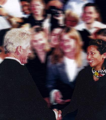 Dr. Nasrine President Bill Clinton